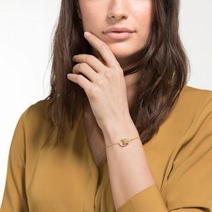 Swarovski Further Bracelet, White, Gold Plating