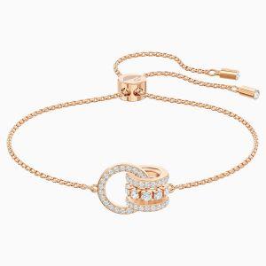 Swarovski Further Bracelet, White, Rose Gold Plating