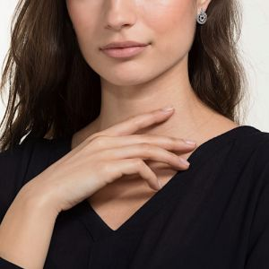 Swarovski Further Drop Pierced Earrings, White, Rhodium plated