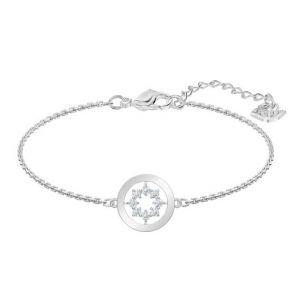 Swarovski Further Circle Bracelet, White, Rhodium Plating