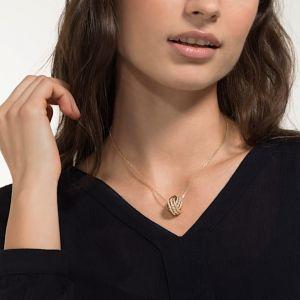 Swarovski Further Necklace, White, Gold Plating