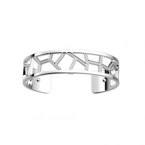 Les Georgettes Girafe 8mm Silver and Zirconia Bangle