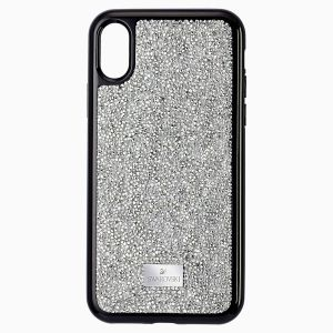 Swarovski Glam Rock Smartphone Case, iPhone XS Max, Silver