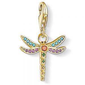Thomas Sabo Charm Pendant, Gold Dragonfly