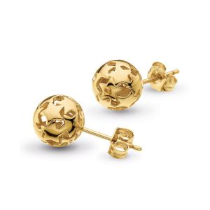 Kit Heath Stargazer Nova Gold Plate Orb Stud Earrings 40217GD029