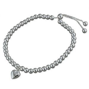 Slider Heart Bracelet - Sterling Silver