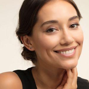 Thomas Sabo Black Zirconia Triangle Stud Earrings