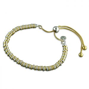 Slider Link Bracelet - Sterling Silver and Yellow Gold