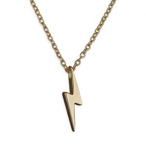 Lightning Bolt Necklace - Gold Plated Sterling Silver