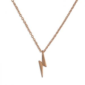 Lightning Bolt Necklace - Rose Gold Plated Sterling Silver