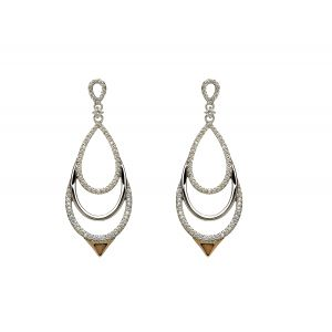 House of Lor Chandelier Earrings with Zirconia