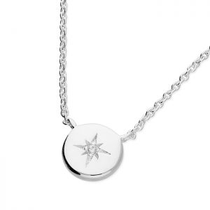 Sterling Silver and Zirconia Star Necklace