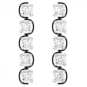 Swarovski Harmonia Drop Earrings - White with Rhodium Plating 5600043