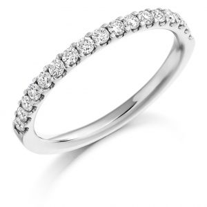 Raphael Collection Half Eternity Ring - Micro Claw Set