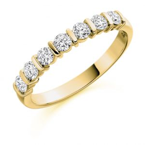 Raphael Collection Half Eternity Ring - Round Brilliant Bar Setting