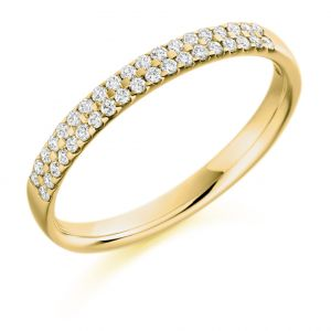 Raphael Collection Half Eternity Ring - Double Row Micro-claw Set