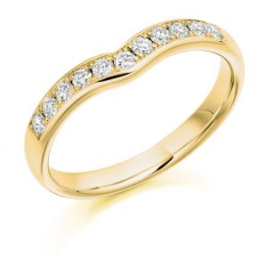 Raphael Collection Half Eternity Ring - Curved and Shaped Grain Set
