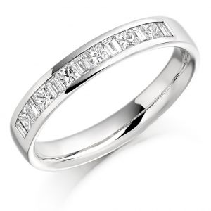 Raphael Collection Half Eternity Ring - Baguette Cut Channel Set