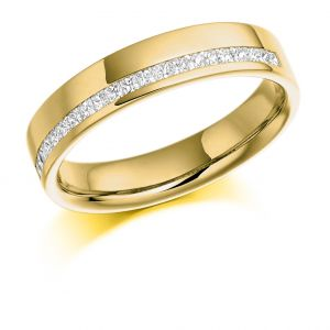 Raphael Collection Half Eternity Ring - Offset Round Brilliant Channel Set