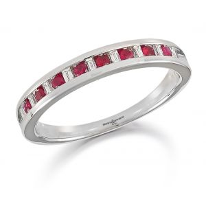 Brown & Newirth Ruby and Diamond Half Eternity Ring