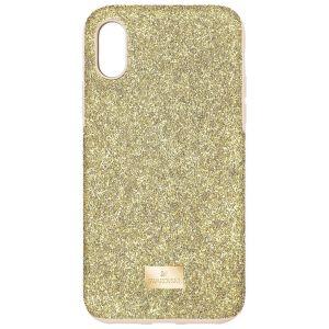 Swarovski High Smartphone Case with Bumper - iPhone XS Max - Gold tone -5533974