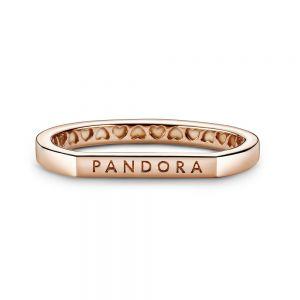 Pandora Logo bar stacking ring 189048C00
