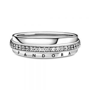 Pandora Triple Band Pavé Ring 199040C01