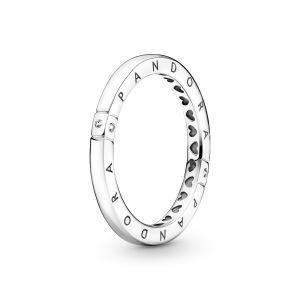 Pandora Logo and Hearts Ring - Silver 199482C01