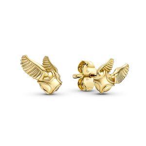 Pandora Harry Potter Golden Snitch Earrings