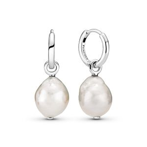 Pandora Freshwater Cultured Baroque Pearl Hoop Earrings 299426C01