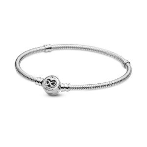 Pandora Moments Heart Infinity Clasp Snake Chain Bracelet 599365C00