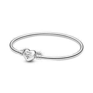Pandora Moments Winged Heart Bangle - 599379C00