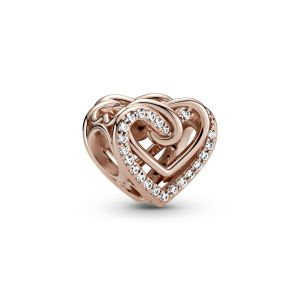 Pandora Rose Sparkling Entwined Hearts Charm-789270C01
