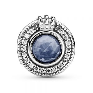 Pandora Sparkling Blue Crown O charm-799058c01
