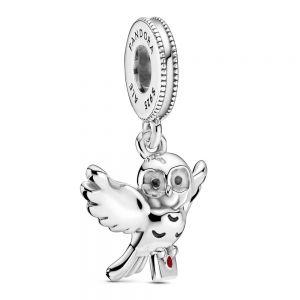 Pandora, Hedwig Owl Dangle Charm