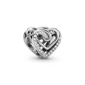 Pandora Sparkling Entwined Hearts Charm-799270C01