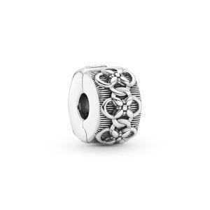 Pandora Flower Pattern Clip Charm - 799316C00