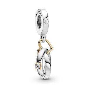 Pandora Two-tone Wedding Rings Dangle Charm - 799319C01