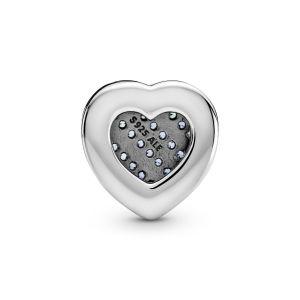 Pandora Reflexions Blue Pavé Heart Clip Charm - 799346C01