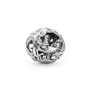 Pandora Disney Alice in Wonderland Cheshire Cat and Absolem Caterpillar Charm - 799361C00