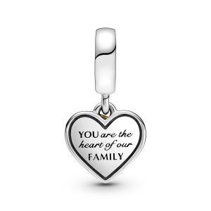 Pandora Two-tone Family Tree and Heart Dangle Charm - 799366C00