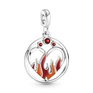 Pandora Me Fire Inside Medallion 799674C01
