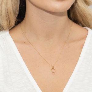 Sarah Alexander Infatuation Gold Vermeil Mini Circle Pendant