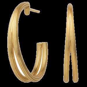 byBiehl Isla Duo Medium Hoop Gold