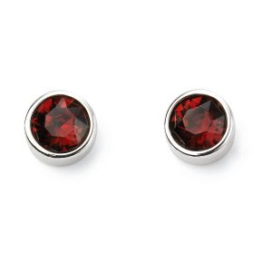 January Birthstone Earrings - Sterling Silver