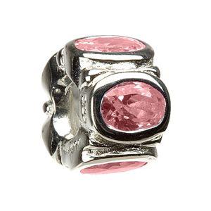 Chamilia Pink Oval Bracelet Charm - Sterling Silver