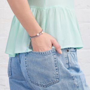 Jersey Pearl Tassel Bracelet, Sky Blue