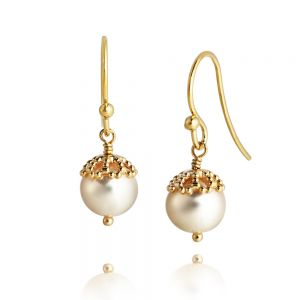 Jersey Pearl Emma-Kate Drop Earrings, Silver