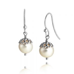 Jersey Pearl Emma-Kate Drop Earrings, Rose Gold