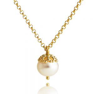 Jersey Pearl Emma-Kate Pendant, Gold EKSP-GW